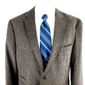 Joseph Abboud 44S 2 Button Plaid Elbow Patch Wool